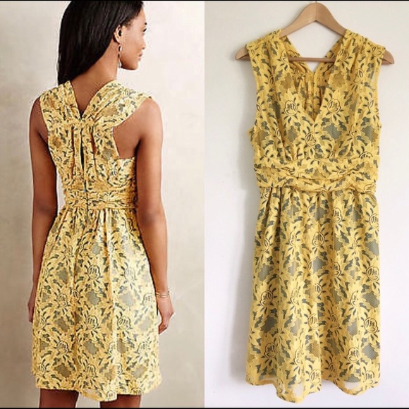a5dff74bc4 Plenty by Tracy Reese Niki Yellow Lace Dress